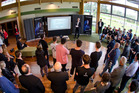 A number of people attended the launch of the Mountain Bike National Performance Hub yesterday. Photo/Stephen Parker