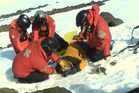 Thomas Dobrisek is rescued from Turua skifield after a skiing accident.