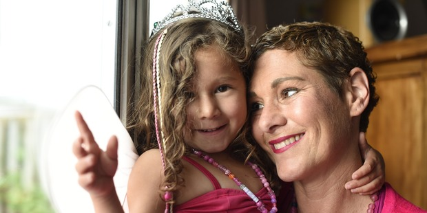Next week Kristen Cook will dress top-to-toe in pink with her daughter Amiah, aged 3, and walk through Tauranga's CBD to raise awareness. Photo/George Novak