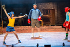 Auckland Theatre Company's Billy Elliot stars Jaxson Cook, Andy Grainger and Stanley Reedy.  Photo:  Michael Smith.