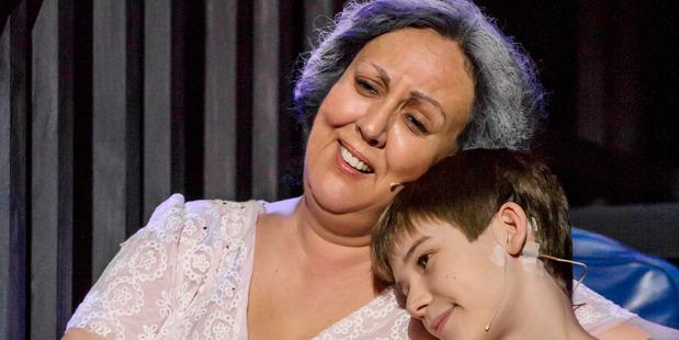 Auckland Theatre Company's Billy Elliot stars Rima Te Wiata and Jaxson Cook. Photo:  Michael Smith.