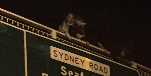 Creepy clown spotted in NSW, Australia. Photo / Facebook