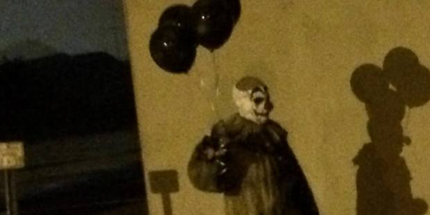 Creepy clown. Photo /  Facebook