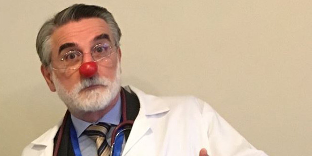 Clown Doctor Thomas Petschener. Photo / Facebook