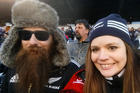 American couple Michael and Jennifer Sigler have no New Zealand connections, but are among the All Blacks' most dedicated fans. Photo/Supplied.