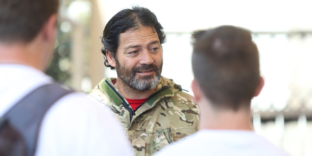 WAR HERO: Willie Apiata, a Westpac ambassador, met YMCA Tauranga members at an event to raise awareness of youth suicide. PHOTO/JOHN BORREN