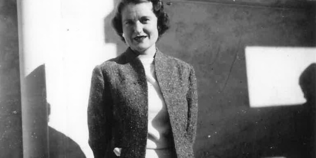 Young teacher Barbara Palmer in the 1950s