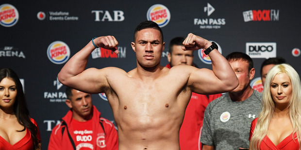 New Zealand heavyweight boxer Joseph Parker is days away from becoming a new dad. Photo / Photosport