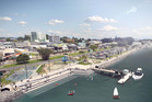 Artist's impression of the Tauranga Waterfront revamp. Image/supplied