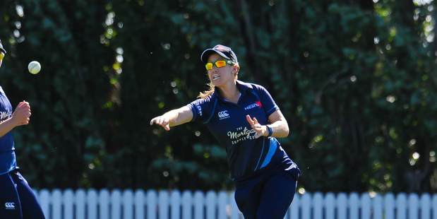 VICTORIOUS: Sam Curtis in action for the White Ferns.  PHOTO/FILE