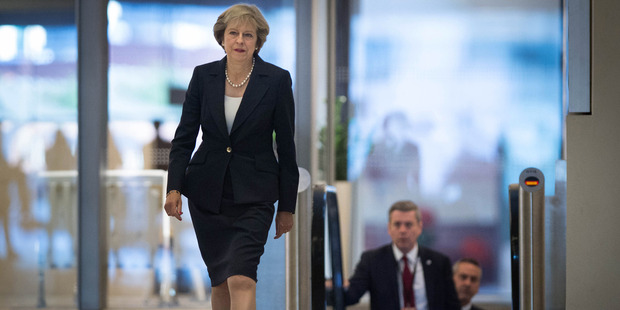 European leaders said Prime Minister Theresa May's comments meant Britain can't remain a member of the EU's tariff-free single market -- an alarming prospect for many U.K. businesses. Photo / AP