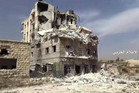 Damaged buildings inside the Bustan Al-Basha neighborhood of Aleppo. Photo / Supplied