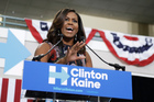First lady Michelle Obama speaks during a campaign rally in support of Democratic presidential candidate Hillary Clinton. Photo / AP