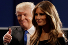 Melania Trump says the words Donald Trump used are unacceptable and offensive to here. Photo / AP