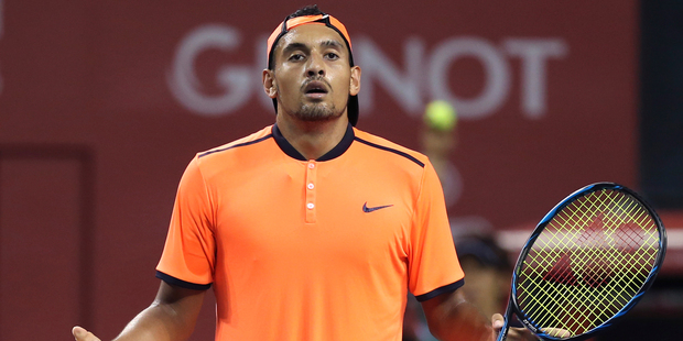 Watching Kyrgios play is as risky as being a blind matador. Photo / AP