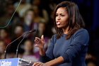 First lady Michelle Obama speaks during a campaign rally for Democratic presidential candidate Hillary Clinton. Photo / AP
