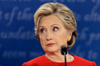 Democratic presidential nominee Hillary Clinton listens to Republican presidential nominee Donald Trump during the first U.S. presidential debate at Hofstra University. Photo / AP