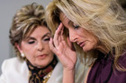 Summer Zervos, right, a former contestant on The Apprentice says Republican presidential candidate Donald Trump made unwanted sexual contact with her at a Beverly Hills hotel in 2007. Photo / AP