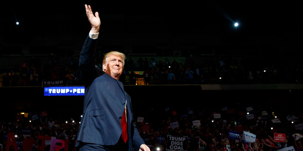 At his rally today in Pennsylvania, Donald Trump claimed victory in the second debate. Photo / AP