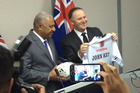 Prime Minister John Key and Fijian Prime Minister Frank Bainimarama in Fiji in September. Photo / Claire Trevett