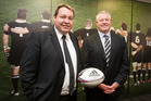 All Blacks coach Steve Hansen and NZRU CEO Steve Tew. Photo / File