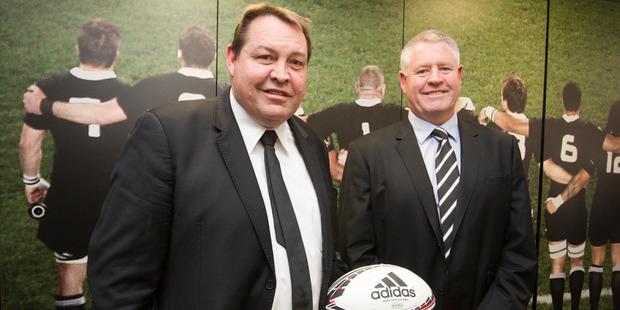 All Blacks coach Steve Hansen and NZRU CEO Steve Tew. Photo / File