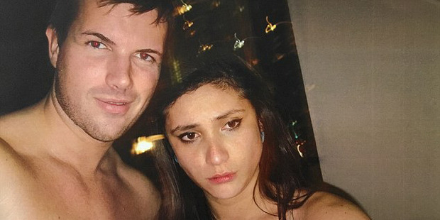 Photograph of Warriena Wright and Gable Tostee taken inside his apartment the night she died. Photo / Supplied