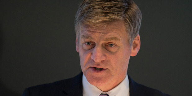 Finance Minister Bill English during his Budget update presentation at Treasury in Wellington. 15 December 2015 New Zealand Herald Photograph by Mark Mitchell. WGP 26Dec15 - HBG 26Dec15 - NZH 20Fe