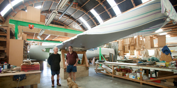 Mike Tunnicliffe (left) is helping Glyn Powell rebuild a Mosquito T43. PHOTO: MICHELLE HYSLOP