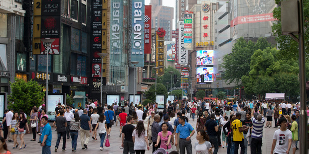 China's population is increasingly consumer-based. Photo / Mark Mitchell