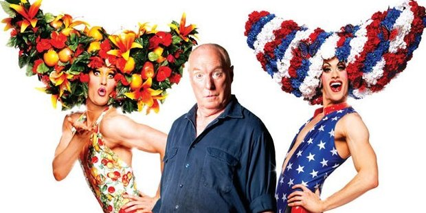 Priscilla, Queen of the Desert is back in town bringing Ray Meagher (centre), best-known for his long-running Home and Away role, and a cast of colourful dancers and drag stars back to Auckland.