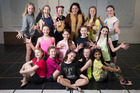 Jodie Dorday (centre back) with some of the young dancers in ATC's production of Billy Elliott. Photo / Jason Oxenham