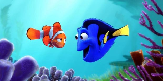A scene from the movie, Finding Dory.