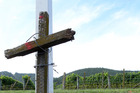 A memorial cross at the site of a fatal road accident. PHOTO / FILE