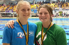 Rebecca Moynihan, 17, and Phoebe Nelson, 15, are both champions in their respective 50m free.