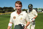 Phillip Hughes, pictured here playing for Australia, died in November 2014 after he was fatally struck by a bouncer playing first-class cricket. Photo / File