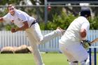 Rodney bowler Luke Bevan bowls to City's Harry Darkins. Photo/Tania Whyte