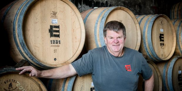 Larry McKenna of Martinborough's Escarpment Vineyard, which ranked seventh in Wine Spectator's Top 100 wines of 2015 with its Escarpment Kupe Pinot Noir 2013. Photo / File