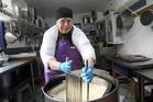 Biddy Fraser-Davies, artisan cheese maker of Cwmglyn Farmhouse Cheese, Eketahuna. Photo by Lynda Feringa.