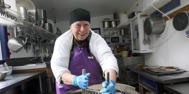 Loading Biddy Fraser-Davies, artisan cheese maker of Cwmglyn Farmhouse Cheese, Eketahuna. Photo by Lynda Feringa.