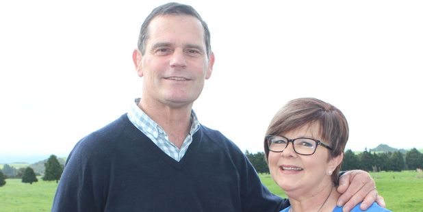 Successful: Dannevirke dairy farmer John Barrow and his wife Deb. Mr Barrow won a third term on Horizons Regional Council.