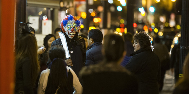 Loading However bright the wig and shiny the nose, a badly behaved clown can be terrifying, as seen in encounters posted online, above and right. Photo / Getty Images