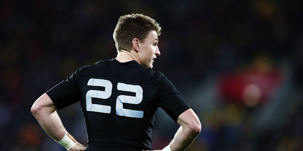 Loading Beauden Barrett of New Zealand looks on during the International Test match between the New Zealand All Blacks and Wales. Photo / Getty Images.
