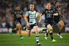 James Maloney of the Sharks makes a break during the NRL Preliminary Final match between the Cronulla Sharks and the North Queensland Cowboys. Photo / Getty Images