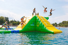 The 'Splash 'n' Play' that is coming to Pandora Pond next Friday will be similar to this inflatable playground pictured above. Photo/Supplied.