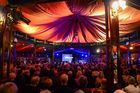 A peek inside the spiegeltent. Photo Tim Whittaker