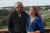 Re-elected Far North mayor John Carter and his wife Leoni celebrate his win at their Waipapakauri Ramp home on Saturday.