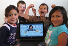 Ohaeawai School's Team Maunga were from left, Arbey Boyce, Jake Thomas, Mason Dalton and Cruz Rihari. Absent is Sydney-Rose Hohepa, who edited the movie with Jake.