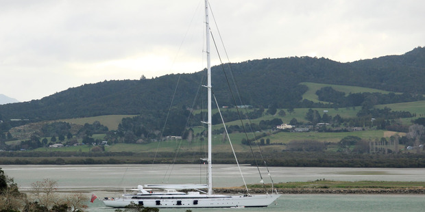 Over 400 yachts will sail into Whangarei this summer. Pictured; a super yacht, the M5, arriving in Whangarei last month.