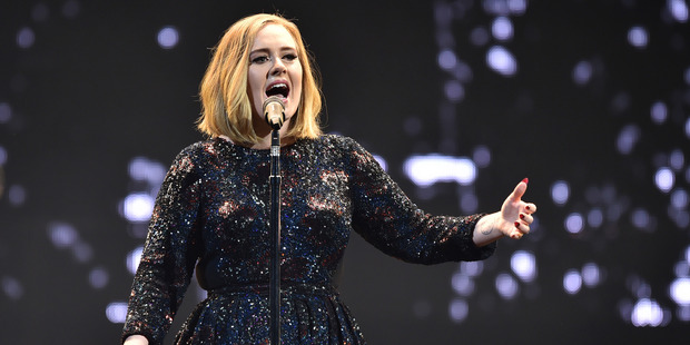 Adele performing on stage in Northern Ireland. Photo / Getty Images